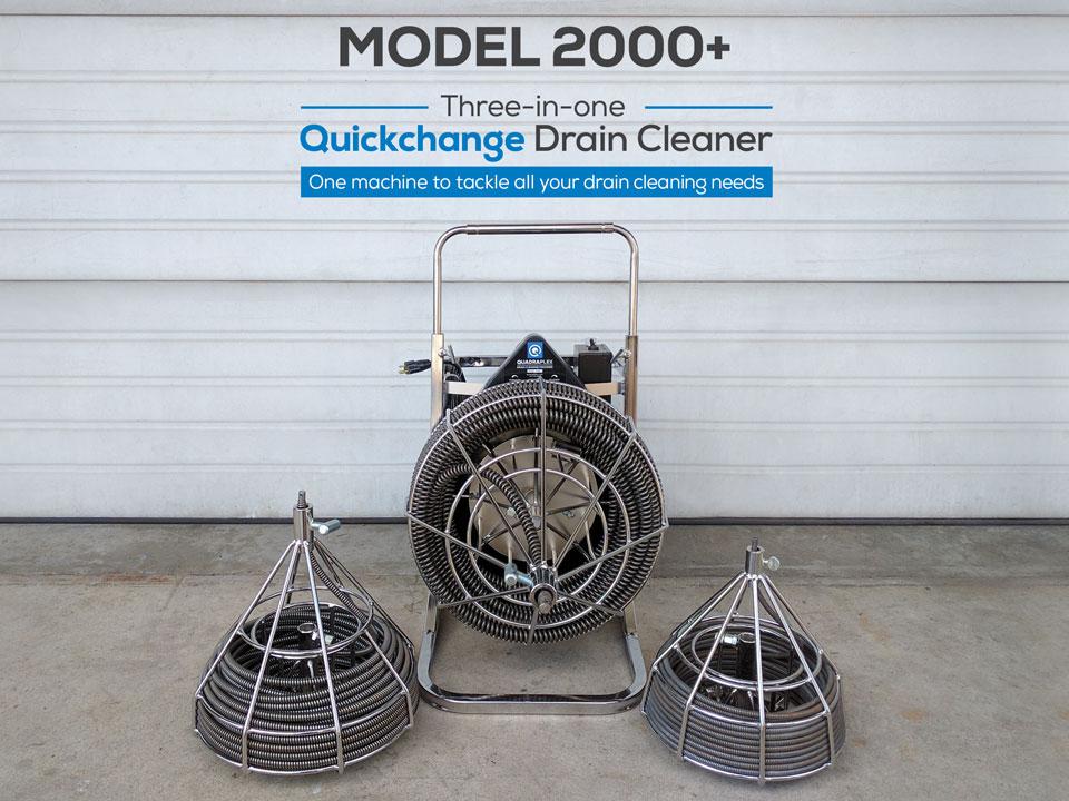 Quadra Plex Model 2000 3 In 1 Drain Cleaning Sewer